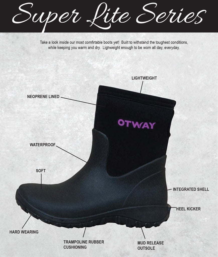 Boots - OTWAY LADIES SUPER LITE MID Ladies Short Boots 100% Waterproof (2368985727034)