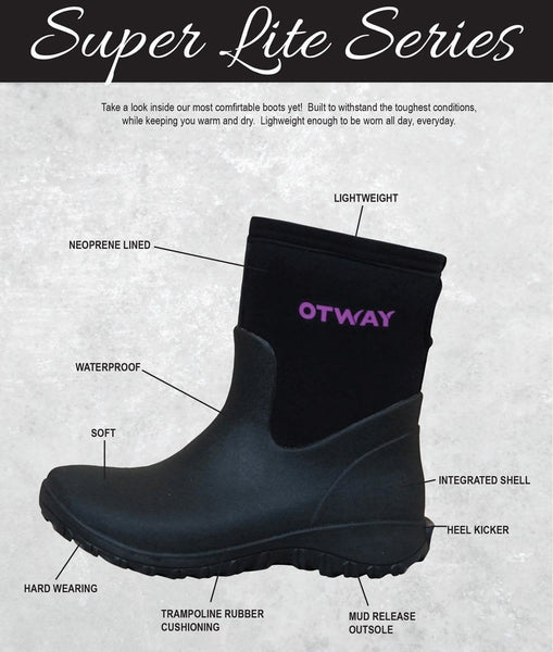 Boots - OTWAY LADIES SUPER LITE MID Ladies Short Boots 100% Waterproof