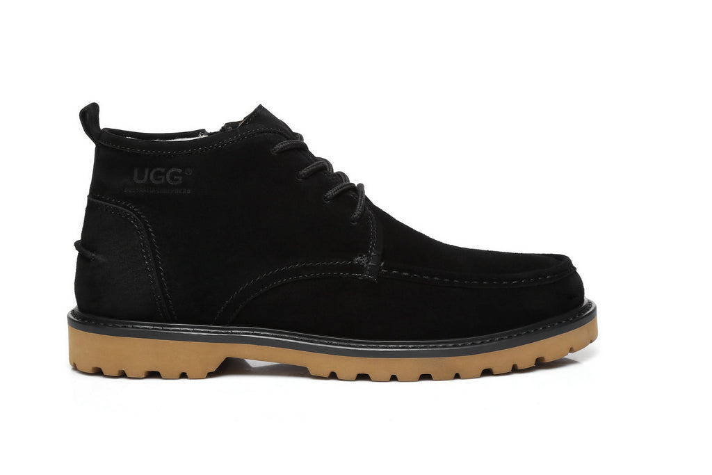 Fashion - AS UGG Mini Boots Mens Lace Up Shoes Justin #514001