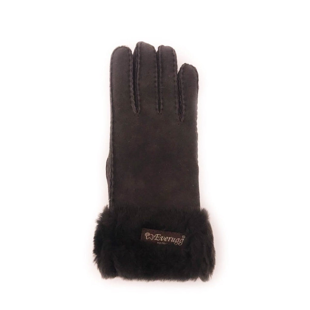 Gloves - EVER UGG Fluffy Shearling Gloves #21490 (1595550924858)