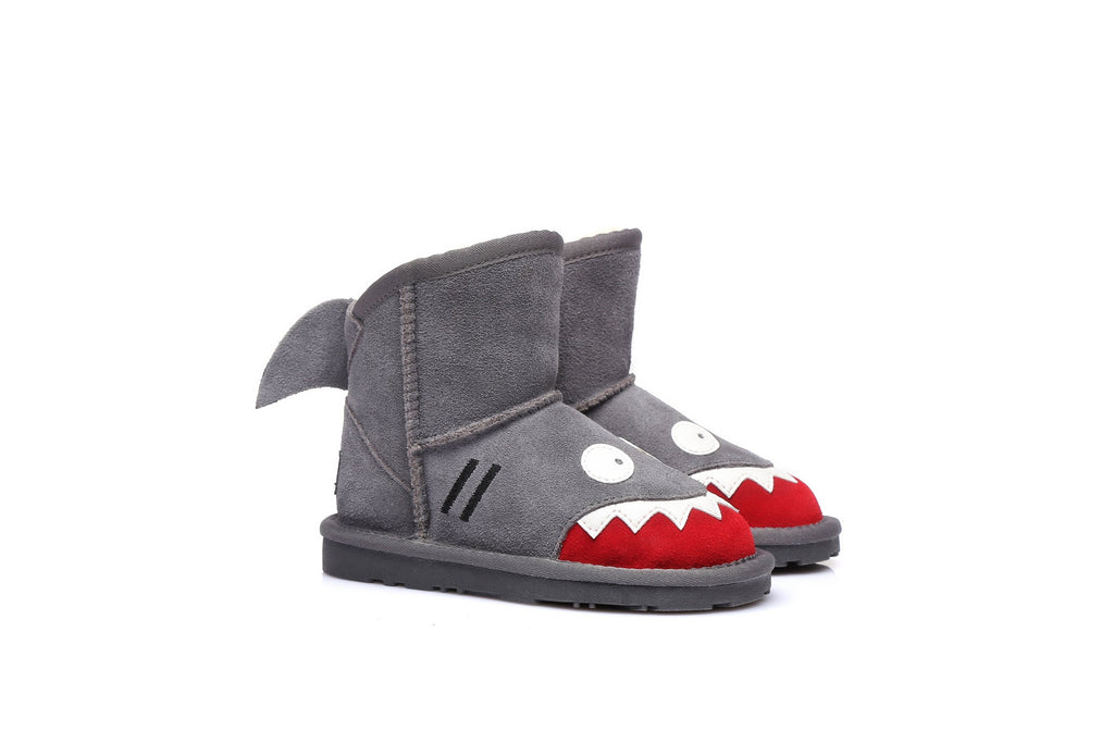 Ever UGG Kids Shark Boots in Grey #11539 (23339532307)