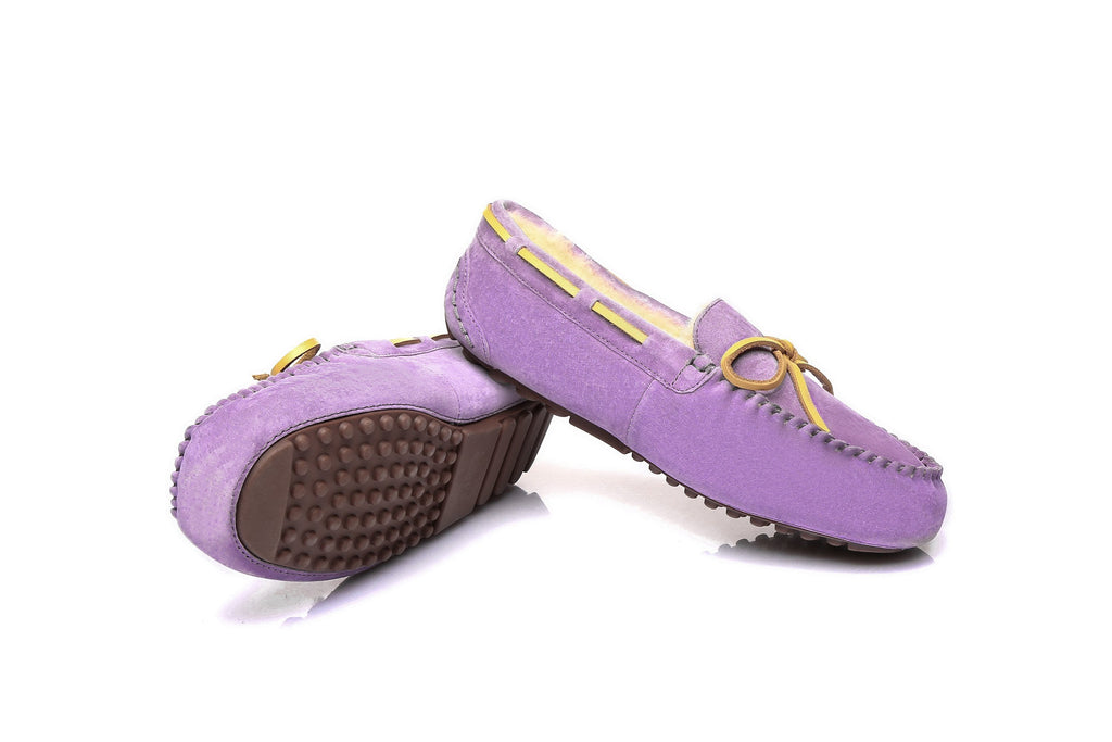 Moccasins - EVER UGG Ladies Classic Lace Moccasins #11613WR (160170672147)