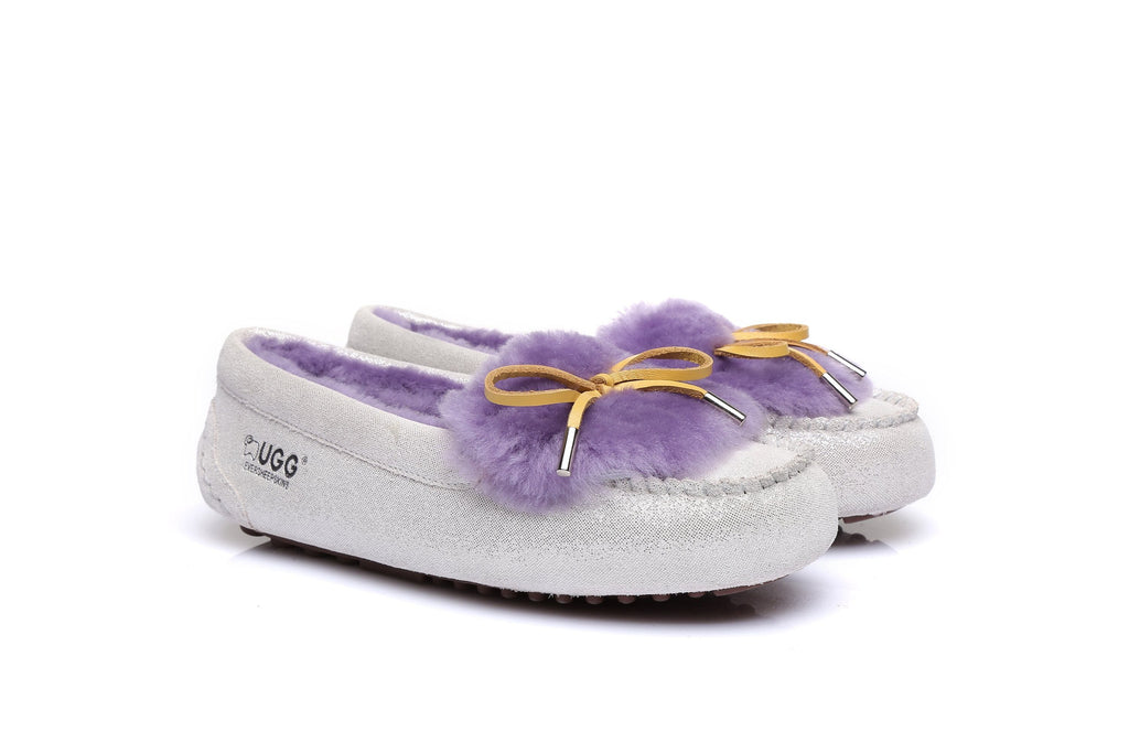 Moccasins - Ever UGG Ladies Fluffy Moccasin #11654 (43562663955)