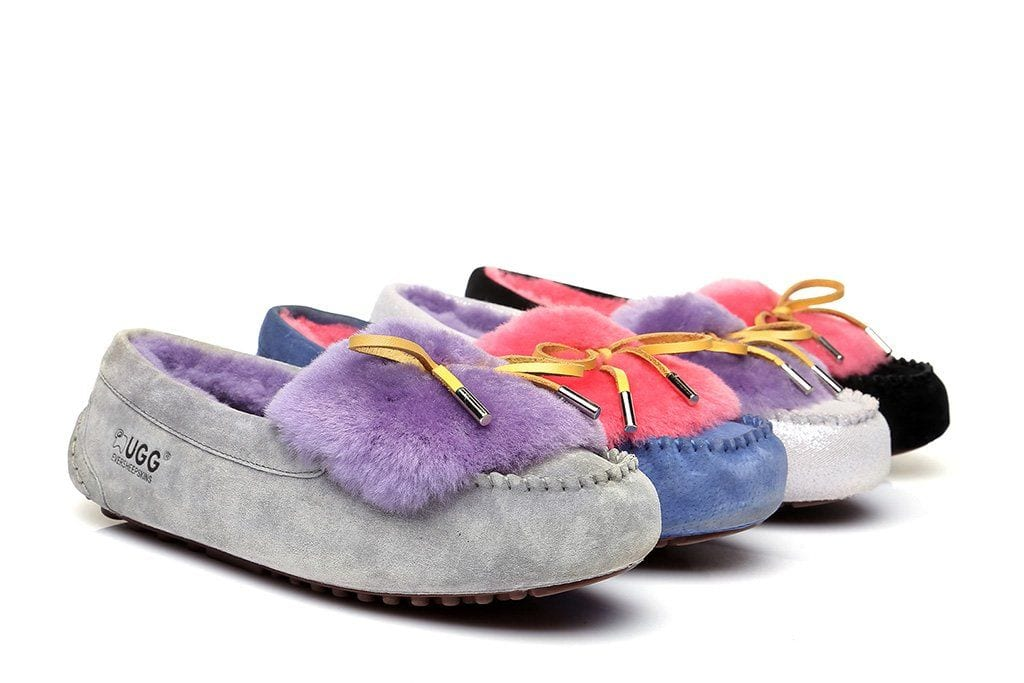 Ever UGG Ladies Fluffy Moccasin #11654 (43562663955)