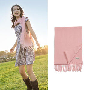 Ever UGG Pure Wool Scarf Light pink #11491