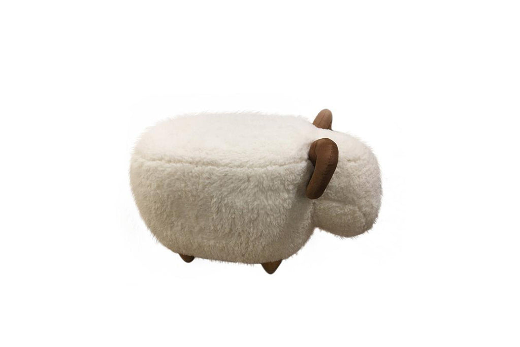 Ever UGG Sheep Pouffe Shoes Changing Stool #25428