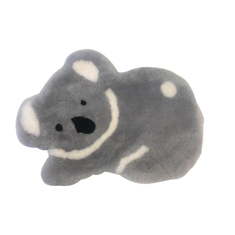 Others - Genuine Australian Sheepskin Soft Decoration Koala Rug - Grey (1881704464442)