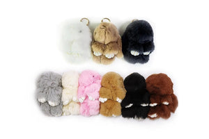 Cute Plush Bunny Keyrings