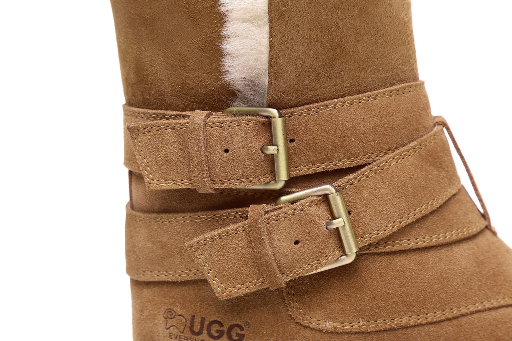 Shoes - Ever UGG Boots Strap Buckle Melody #11747 (11023084179)