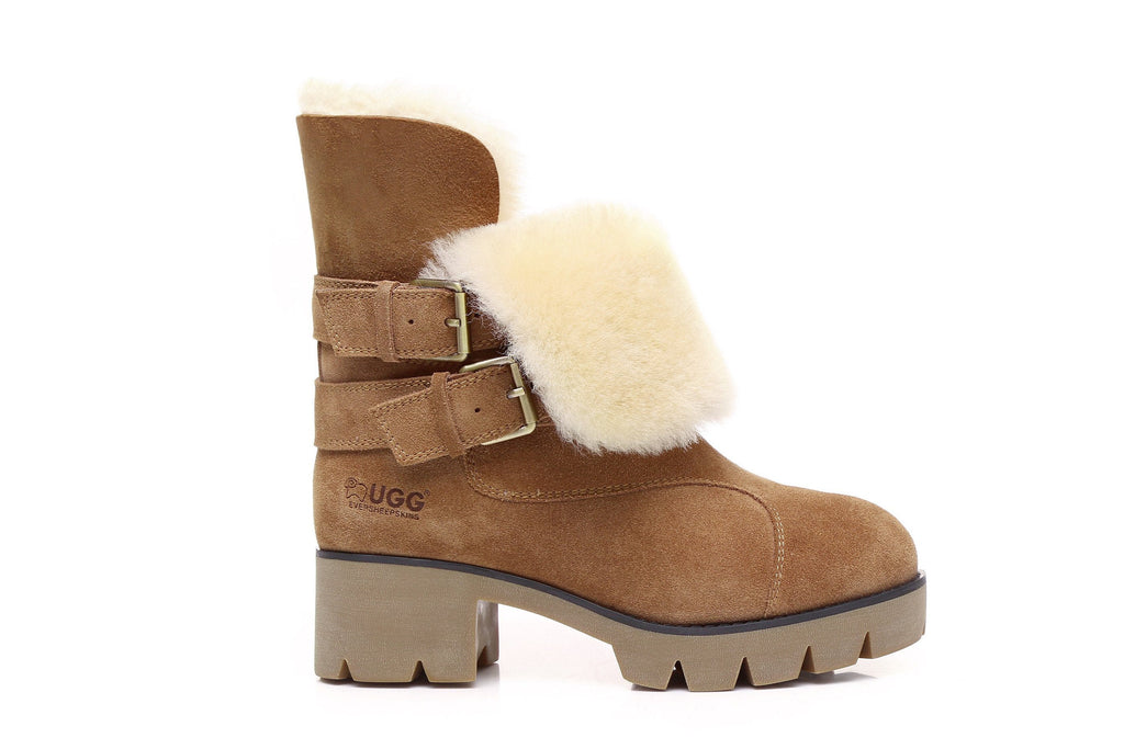 Shoes - Ever UGG Boots Strap Buckle Melody #11747