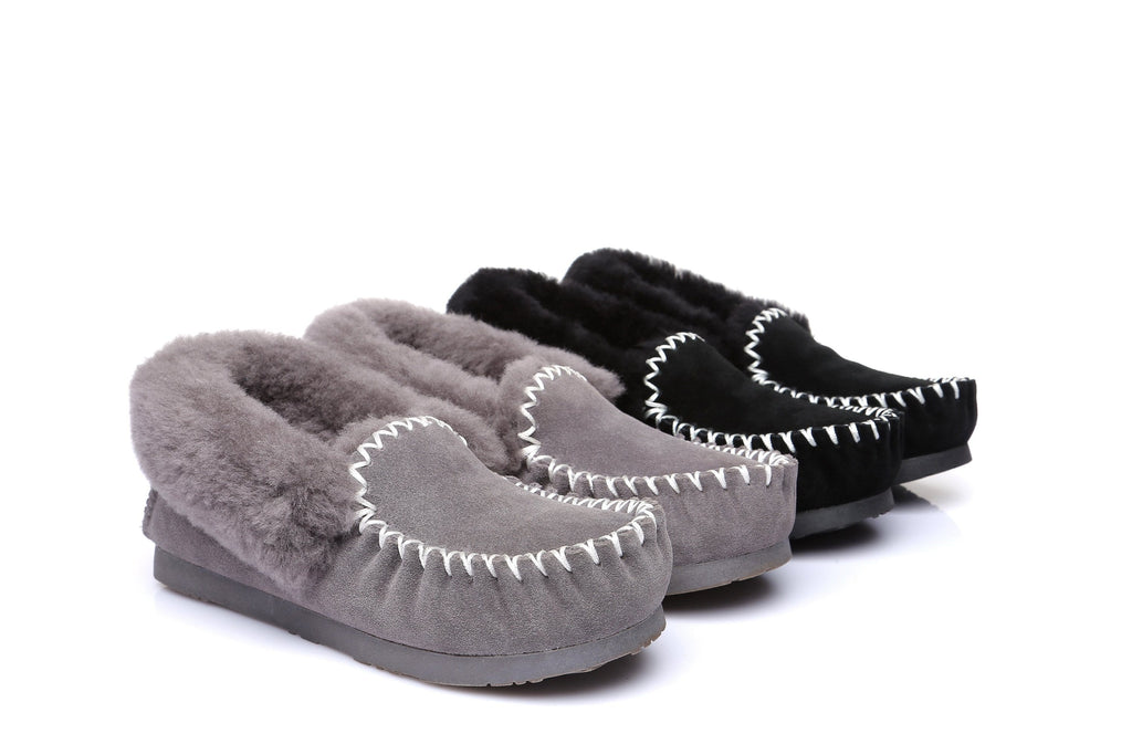 Ever UGG Ladies Double Sole Popo Moccasins Slippers #11607 (11085664787)