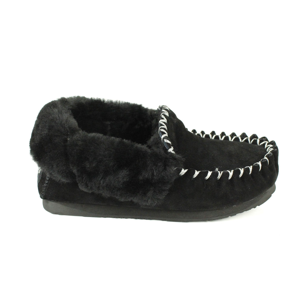 Shoes - Ever UGG Ladies Double Sole Popo Moccasins Slippers #11607 (11085664787)