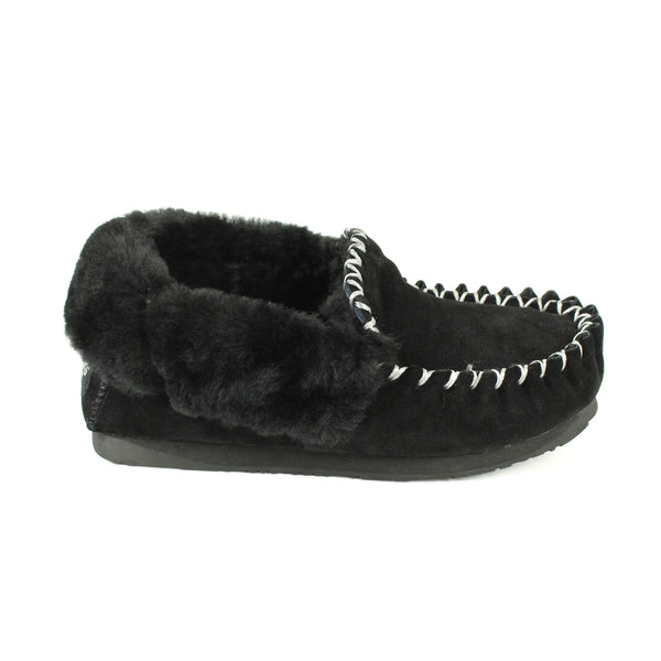 Shoes - Ever UGG Ladies Double Sole Popo Moccasins Slippers #11607