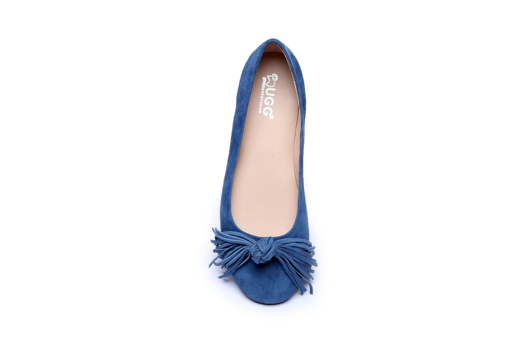 Shoes - Ever UGG Sewing Ballet Flats With Cute Tassel Monica #11695 (38266896403)