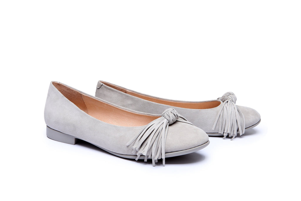 Ever UGG Sewing Ballet Flats with Cute Tassel Monica #11695