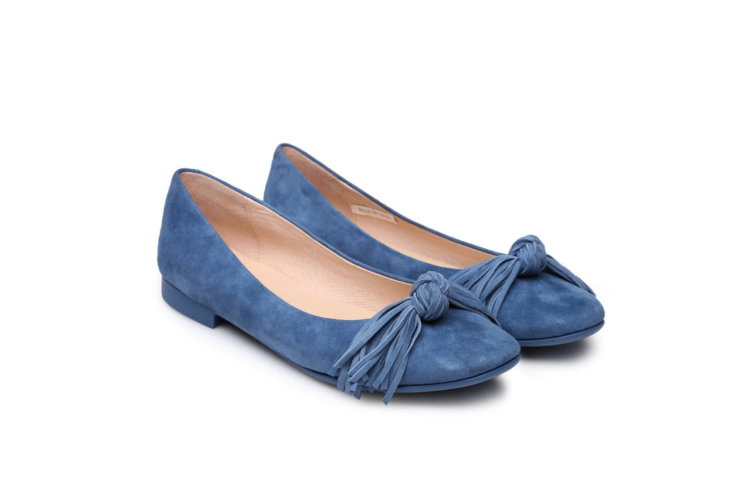 Ever UGG Sewing Ballet Flats with Cute Tassel Monica #11695 (38266896403)