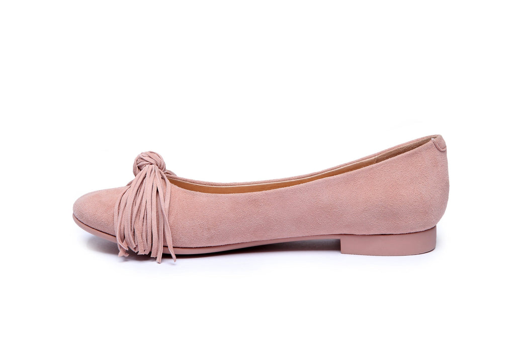 Shoes - Ever UGG Sewing Ballet Flats With Cute Tassel Monica #11695