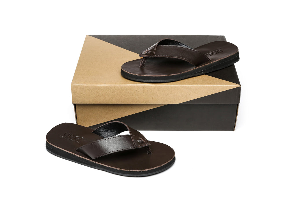 Slippers - AS Murphy Unisex Leather Slides Thong