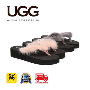 Slippers - Ever UGG Wedge Platform Thongs Faye #11615