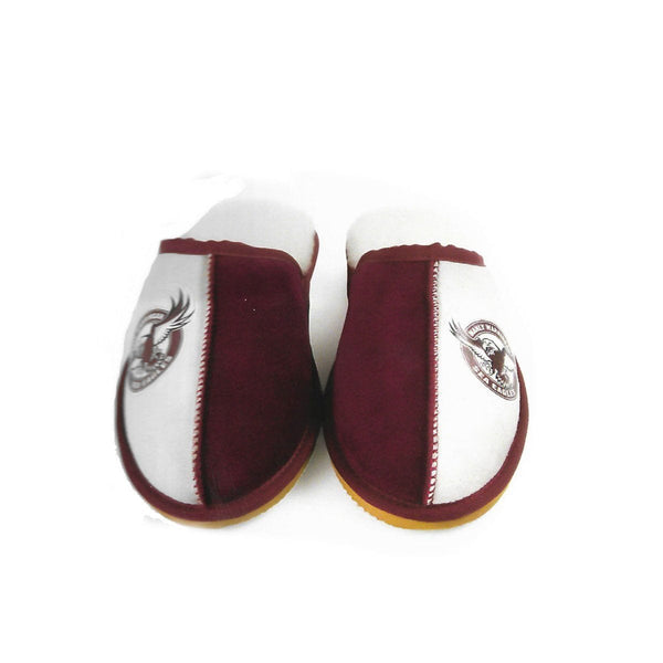 Slippers - NRL Official Licensed UGG Adult Unisex Slippers Manly-warringah Sea Eagles