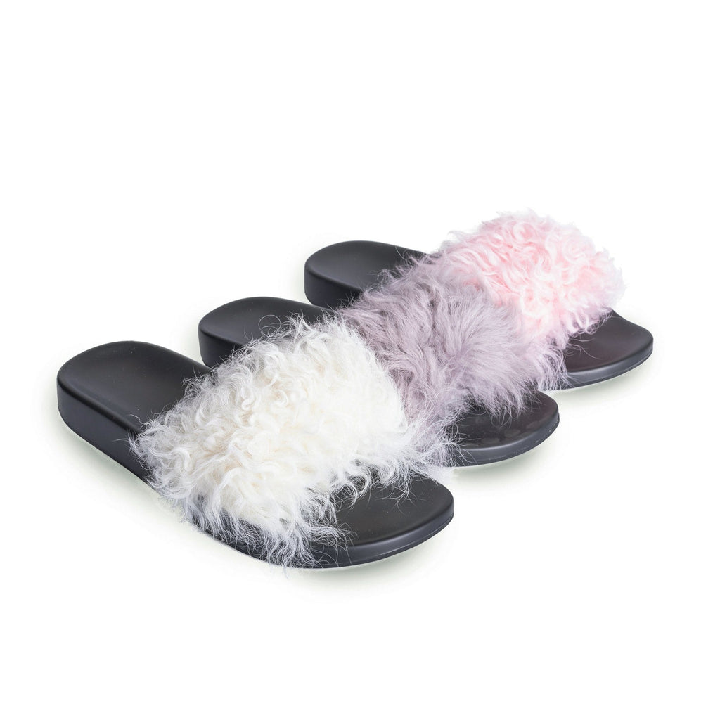 Slippers - UGG AS Polar New Fashion Women Wool Comfortable Summer Slide Slippers Sandals