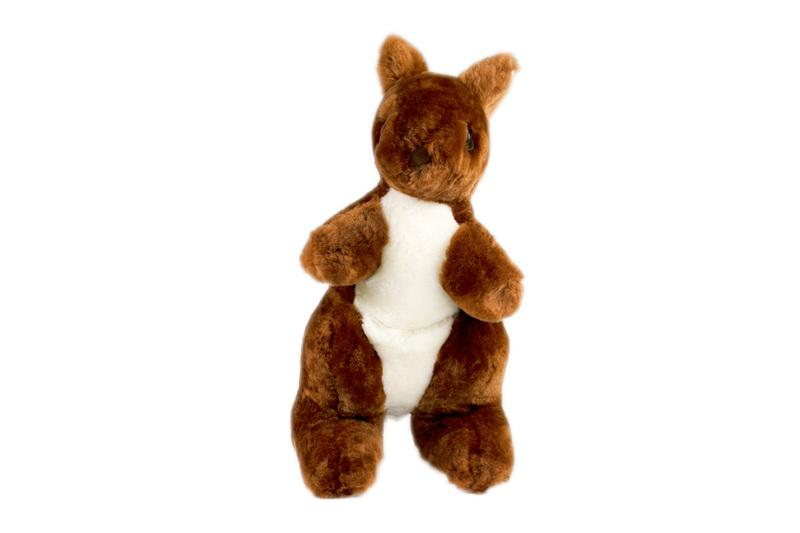 KANGAROO Sheepskin Stuffed Animal Soft Plush Toy (4367808167994)