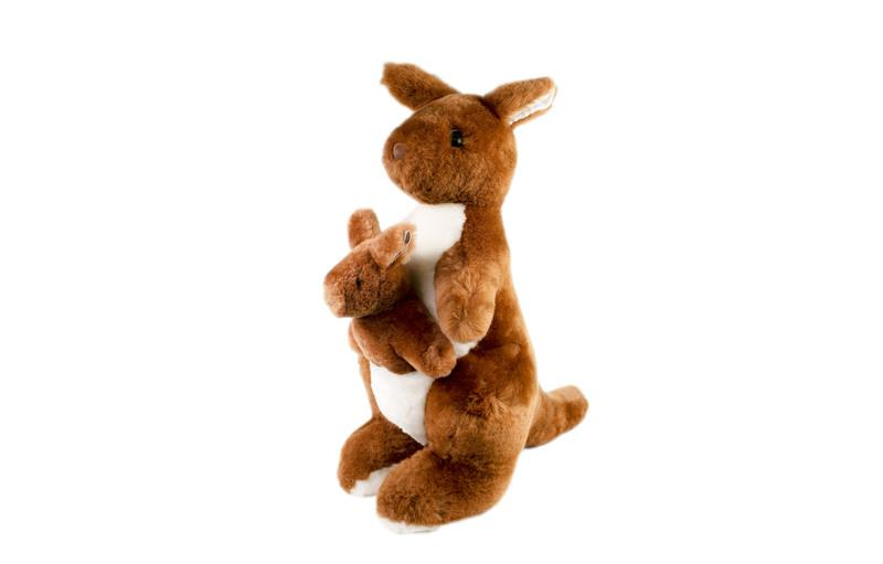 Kangaroo With Joey Stuffed Animal Soft Plush Toy