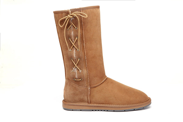 UGG Boots - AS UGG Boots Tall Side Lace Up #15983