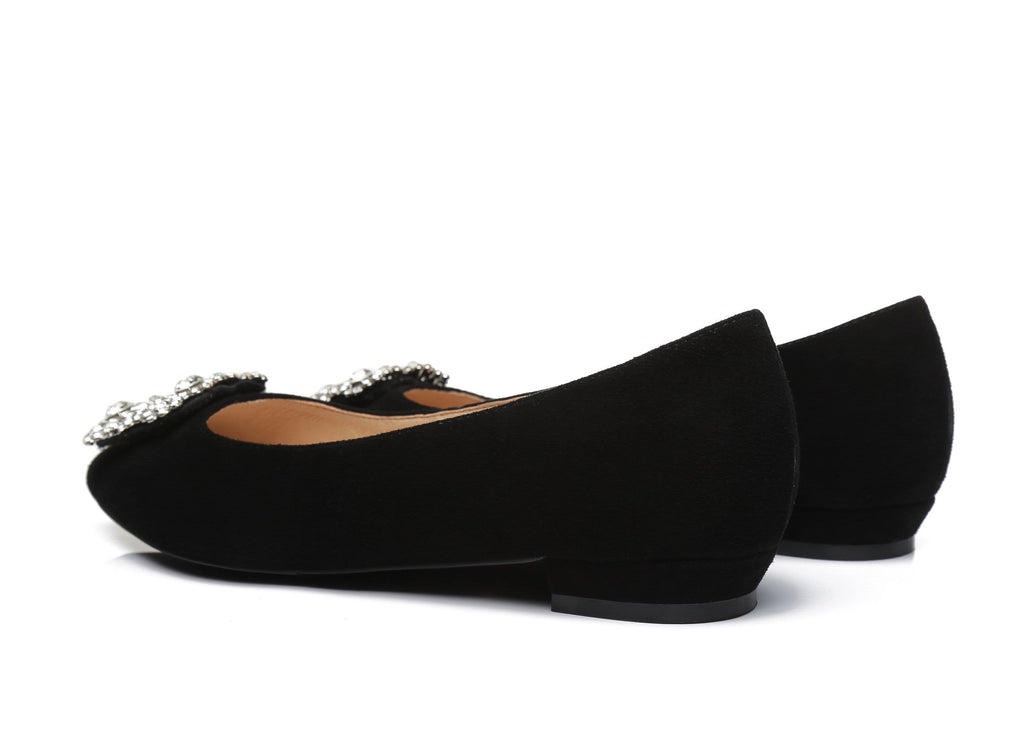 AS UGG Women Leather Flats Isabella
