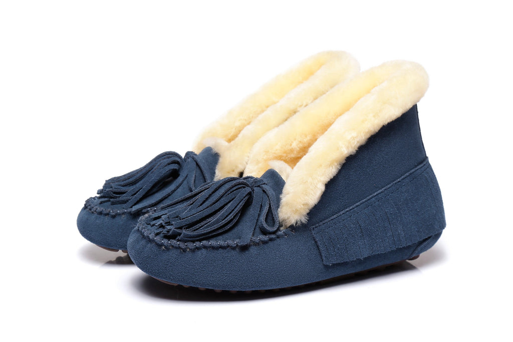 AS UGG Ladies Collar Lulu Moccasin with Tassel
