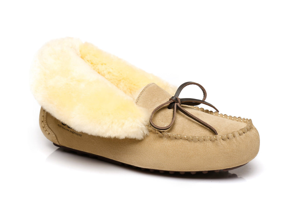 AS UGG Ladies Collar Shirley Moccasin