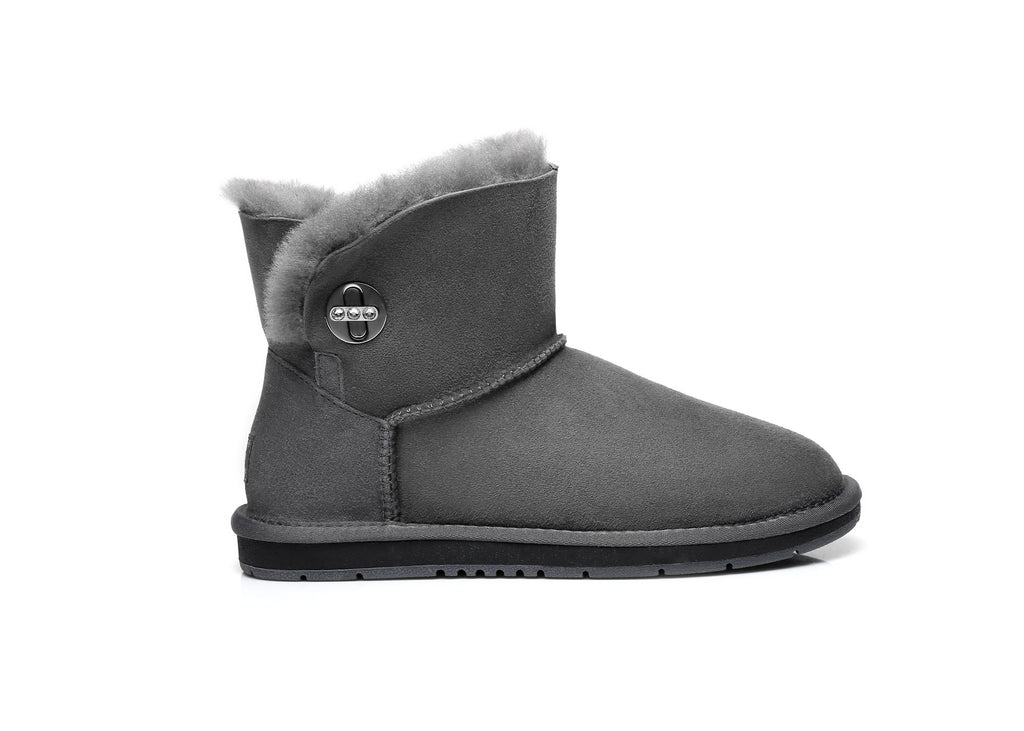 UGG Boots - AS UGG Metal Turn Button With Crystal Mini Boots Layton #15560