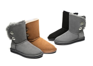 UGG Boots - AS UGG Metal Turn Button With Crystal Short Boots Layton #15561