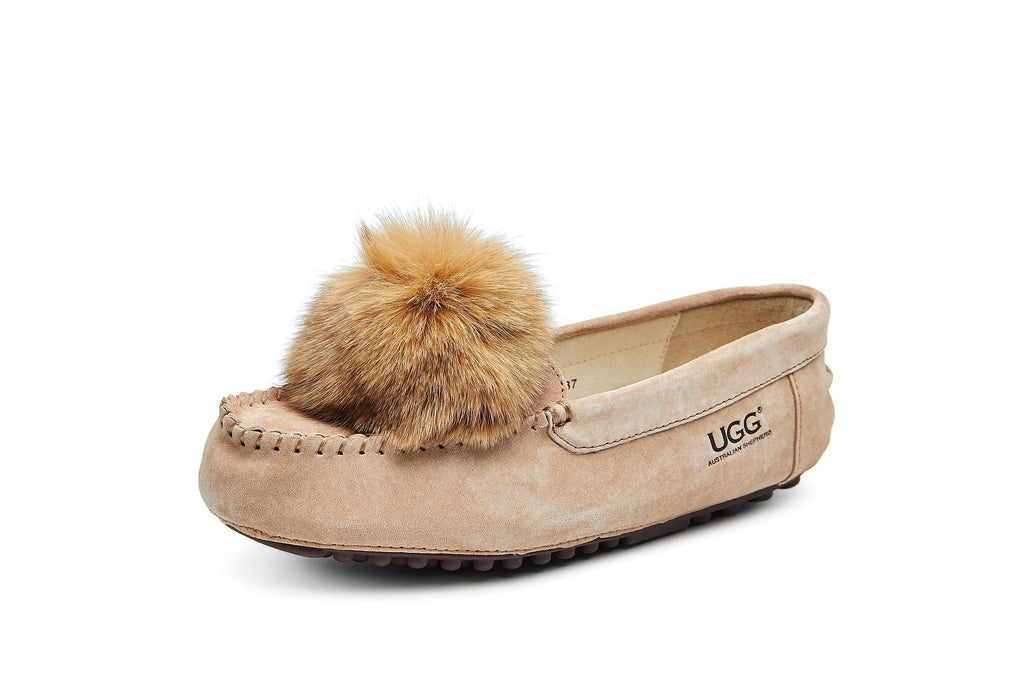 UGG Boots - AS UGG Sophie Moccasin With Pom Pom #522016 (2354986942522)