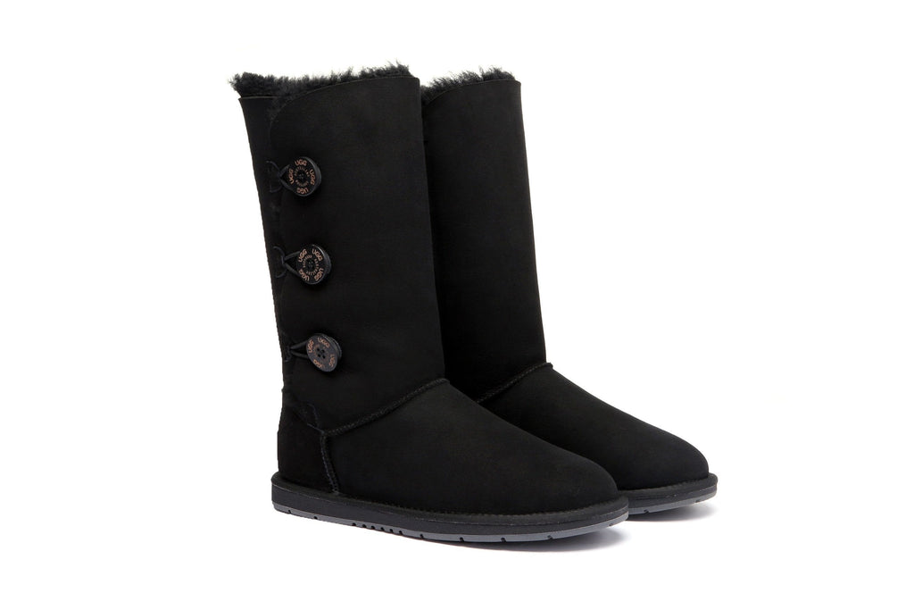 87a49410770 UGG Boots Australia Premium Double Face Sheepskin Tall Triple button Water  Resistant #15902