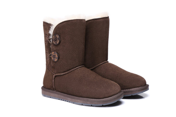 UGG Boots - AS UGG Twin Buttons Short Boots #15562