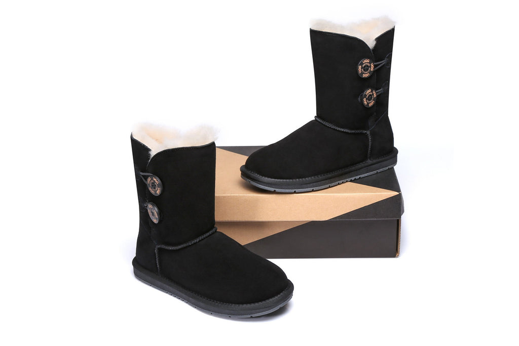 UGG Boots - AS UGG Twin Buttons Short Boots #15562 (1727656165434)