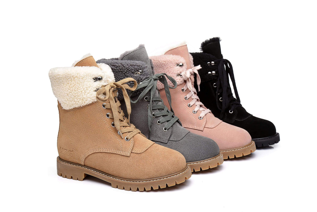 UGG Boots - AS UGG Women Fashion Chunky Boots Mina
