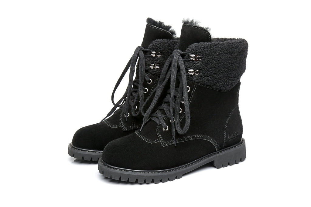 AS UGG Women Fashion Chunky Boots Mina