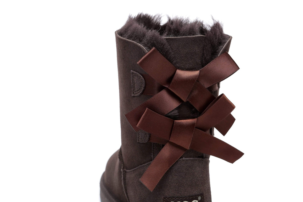 UGG Boots - AS Women Double Back Bow Short Ugg Boots