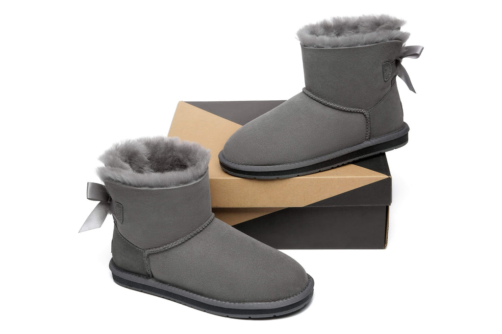 UGG Boots - AS Women Single Back Bow Mini Ugg Boots