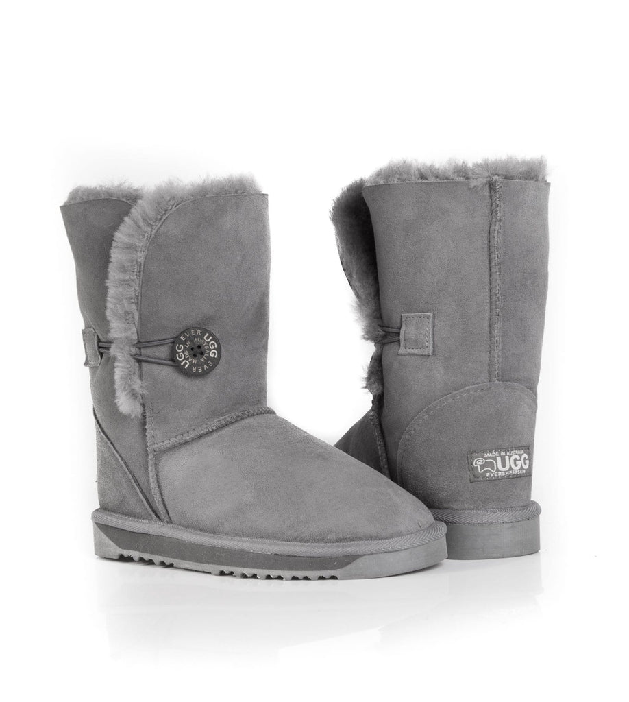 UGG Boots - Australian Made Ladies Short Button UGG Boots #12802 (7526811719)