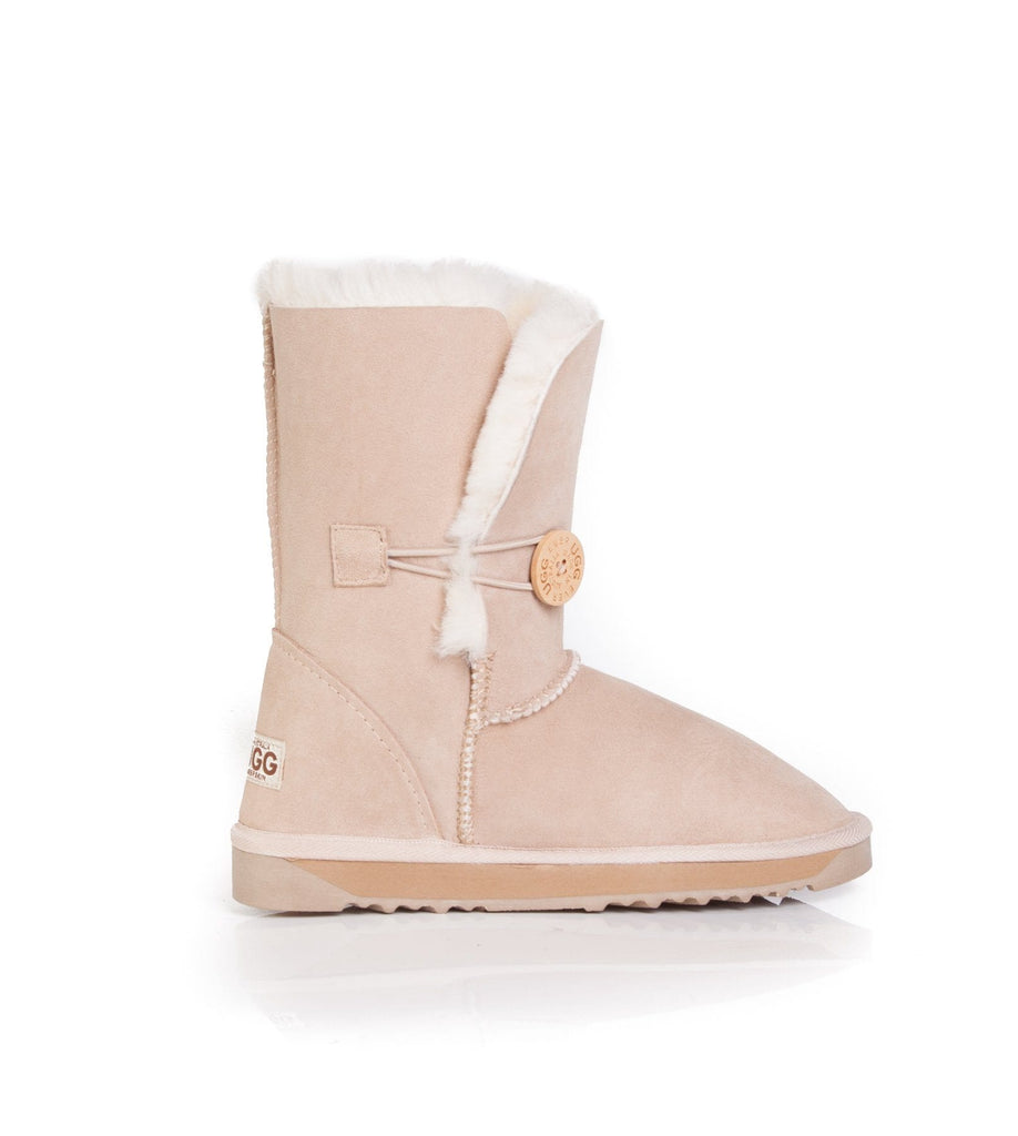 UGG Boots - Australian Made Ladies Short Button UGG Boots #12802