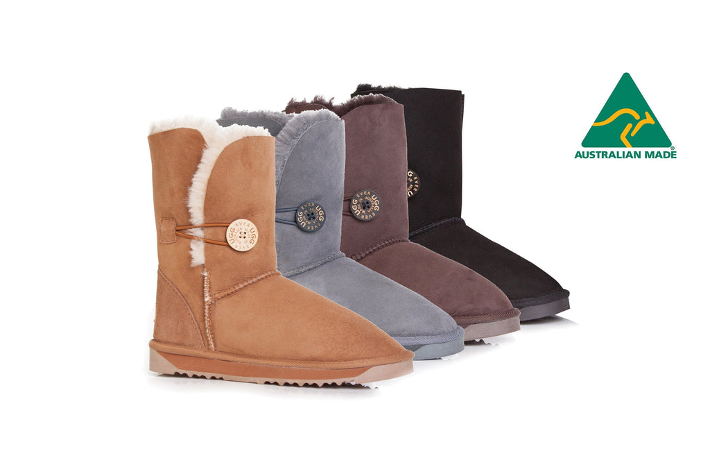 Australian Made Ladies Short Button UGG Boots #12802-Clearance