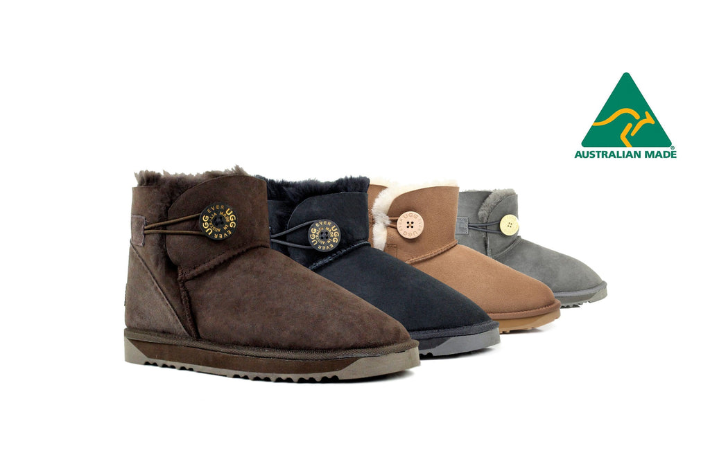 Australian Made Mini Button UGG Boots #12702-Clearance