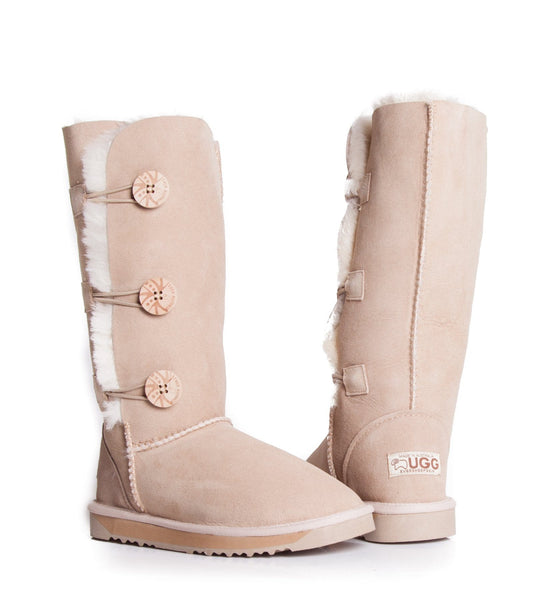 UGG Boots - Australian Made Tall Button UGG Boots #12902