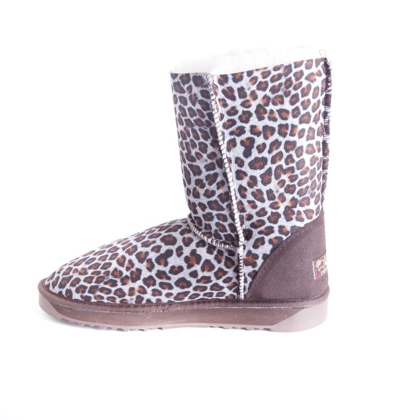 Australian Made UGG Short Button Animal Print Boots #12859-Clearance