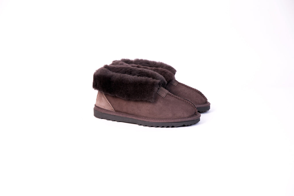 Australian Made Wool Collar Slipper #113016 (2486669934650)