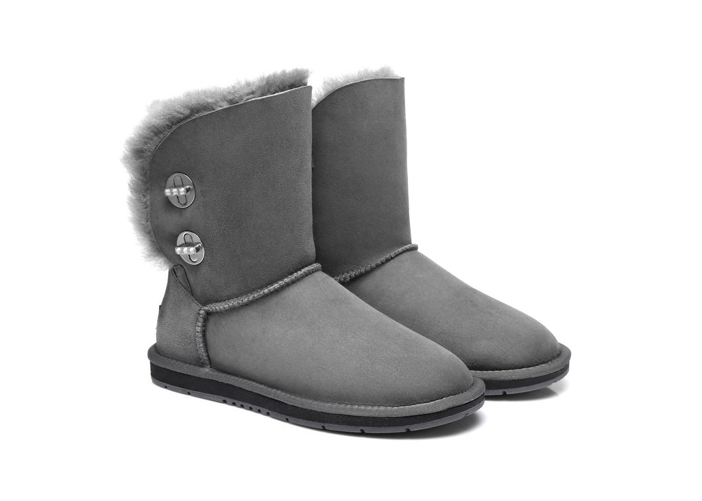 Australian Shepherd UGG Boots Metal Turn Button with Crystal Short Layton,Diamond Boots #15561 (1787587625018)