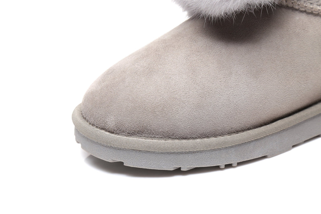 UGG Boots - EVER UGG Ankle Pom Pom Boots Moi #21661